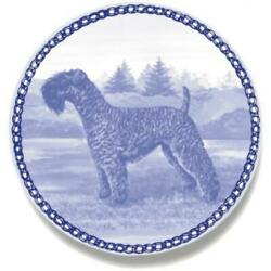 Kerry Blue Terrier - Dog Plate made in Denmark from the finest European Porcelai