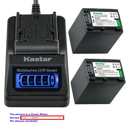 Kastar Battery Lcd Quick Charger For Sony Np-fv100 Hdr-xr155 Hdr-xr160 Hdr-xr260