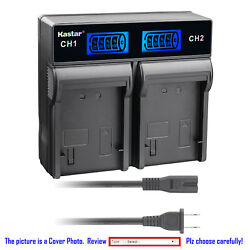 Kastar Battery Lcd Rapid Charger For Sony Np-fv100 Hdr-xr155 Hdr-xr160 Hdr-xr260