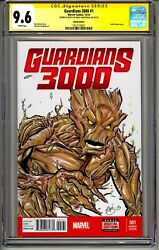 Guardians 3000 1 Cgc Ss 9.6 Greg Kirkpatrick Signed Dated Sketched 1/1 Rare