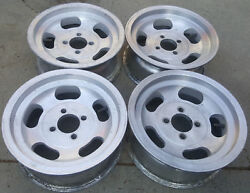 Vintage retro Slot Mag Wheels 13x5.5 Americam Racing Indy Western appliance roto