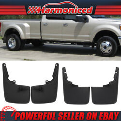 Fit 11-16 F250 F350 Super Duty Mud Flaps Splash Guards Without Fender Flares 4PC