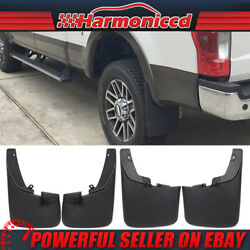 Fits 11-16 F250 F350 Super Duty Mud Flaps Splash Guards With Fender Flares 4PCS