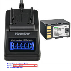 Kastar Battery Lcd Quick Charger For Jvc Vf823 Gz-mg330 Gz-mg330a Gz-mg330aus