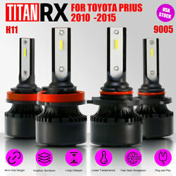 4x LED Headlight Bulb Kit H11/9005 High/Low Beam Suit For TOYOTA Prius 2010-2015