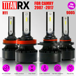 4x LED Headlight Bulb Kit H11/9005 High/Low Beam Suit For TOYOTA Camry 2007-2017