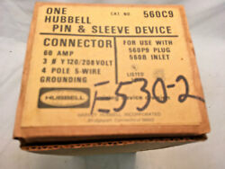 Hubbell 560C9 60 Amp 120208V 3Ø Y 4 Pole 5 Wire Pin & Sleeve Female Connector