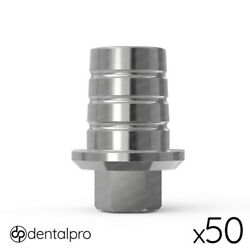 50 X Anti-rotational Cad/cam Ti-base Abutment Mis® Compatible Internal Hex Wp