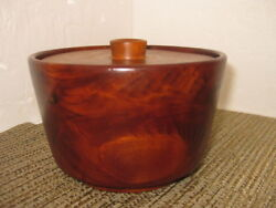 Wood Humidor Bowl And Cover By The House Of Myrtlewood Coos Bay Oregon