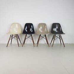 Vintage Eames Dsw Chairs Herman Miller 50s 60s Midcentury Monochrome