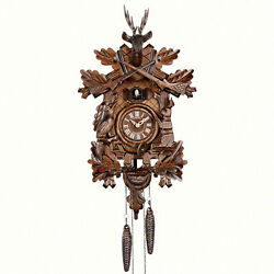 Cuckoo Clock 8-day-movement Carved-style 18.9 By Anton Schneider