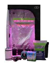 Complete Oasis 3'x3' - 4 Plant LED Hydroponics Grow Tent System Indoor Grow Room
