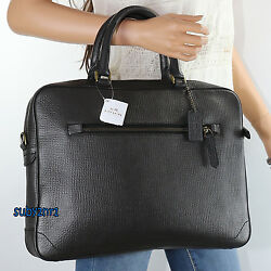 NWT Coach Men's Crosby Leather Business Tote Slim Briefcase Crossbody Bag 71426