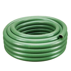 2 X 100and039 Heavy Duty Flexible Pvc Green Standard Suction Hose - Industrial Grade