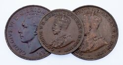 1919-1951 Australia Half Penny And Penny Lot 3 Coins Km 22, 23, 43