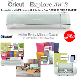 Fastest Cricut Explore Air 2 With Tool Kit And Vinyl Pack For Designs