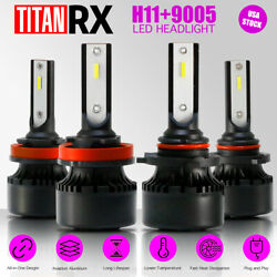 4x LED Headlight Bulbs H11/9005 High/Low Beam Suit For Chevrolet Sonic 2012-2016