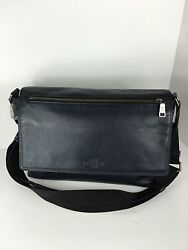 COACH F71642 Sullivan Messenger Bag Crossbody Men's Smooth Leather Midnight NWT