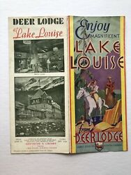 1950's Lake Louise And Deer Lodge In Canada Travel Brochure