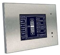 Clipsal C-bus Bandw Mkii Touch Screen Controller Monochrome Stainless Steel