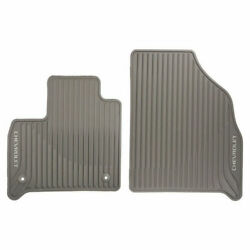 2018-2019 Chevrolet Traverse Front 2nd 3rd Row All Weather Mats Dark Atmosphere