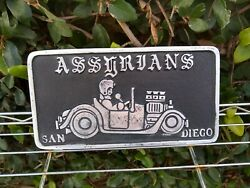 CAR CLUB PLAQUE PLATE GARAGE ART CHECK OUT ALL THE OTHERS CRAZY COLLECTION! COOL