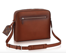 Louis Vuitton Reporter Messenger Brown Ombre Leather Cross Body Shoulder LV Bag