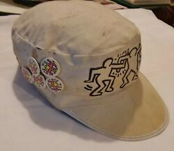 Keith Haring Memorabilia 1980's - Kh World Tour Painters Cap From Kh