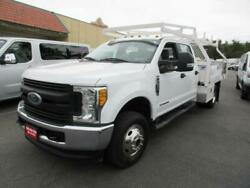 2017 FORD F350  4x4  43779 Miles WHITE 12 #39; CONTRACTOR BED V8 6.7L; TURBO A