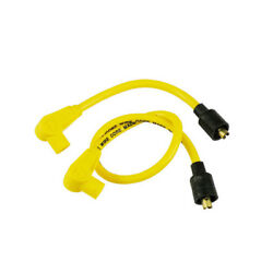 Taylor Ignition Leads 8mm Yellow For Harley Davidson 65-99 With Contact