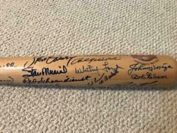 Baseball Hall Of Fame Cooperstown Signed Full Size Baseball Bat 35 Signatures