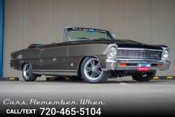 1963 Chevrolet Nova Convertible Custom 1966 Convertible One-of-Non 350 SBC V8 4 speed Black