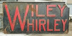 Vintage Wiley Whirley Cranes Port Deposit Md Cast Iron Plaque Sign 96 Lbs 45x22