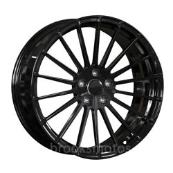22 Staggered Gloss Black Mult Spoke Rims Wheels Fits Mercedes Benz Maybach W222