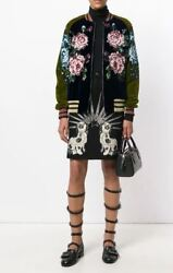 Gucci Sequinned Floral Bomber Jacket-With Tags- RRP$6,640