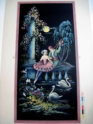 Lovely Print Of Man Singing To Ballerina In The Moon Light By Brunozetti