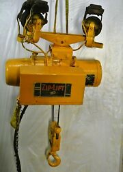 P And H Zip Lift 2000 Lbs Cable Hoist W Cornering Trolley 1hp 220/440v 3ph