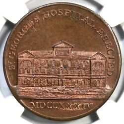 1790and039s Dandh-54 Ngc Ms 65 Rb Middlesex - Kempsonand039s Plain Edge Conder Token