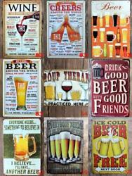 Metal Tin Funny Signs Pub Bar Home Wall Home Decor Cafe Alcohol Beer Drink Tail