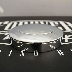 Chrome Smooth Big Rig 5-hole Horn Button With Forever Sharp Logo