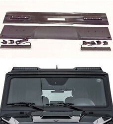 Fiberglass Front Roof Spoiler With Led For Mercedes G-class W463 Brabus Style