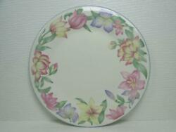 Blooms By Royal Doulton Salad Plate Expressions Pink Lavender Yellow Flowers