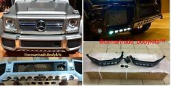 Skid Plate And Lip With Led For Mercedes G500 G550 G63 G65 W463 Brabus Style