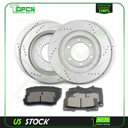 Front And Rear 4x Brake Discs Rotors And 8x Ceramic Pads For Audi A4 Quattro 05-06