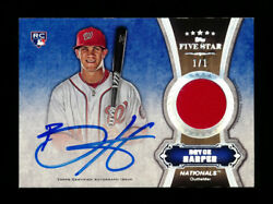 2012 TOPPS FIVE STAR ROOKIE BRYCE HARPER RC RAINBOW RELIC AUTO AUTOGRAPH #1/1