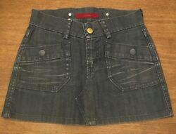 Levi's Jean Skirt Blue Mini Size 025 Very Good Preowned