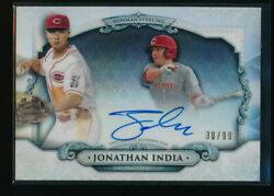 Jonathan India Auto 2018 Bowman Draft Chrome Sterling Continuity /99 Reds Rc
