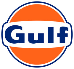 Gulf Oil Petroleum Mens Collectible Embroidered Polo Xs-6x Lt-4xlt Gasoline New