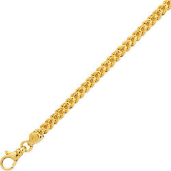 14k Yellow Gold Square Franco Link 22 4.4 Mm 23 Grams Chain Necklace Sfr120