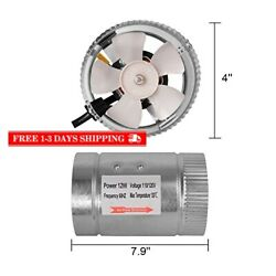iPower 4 Inch 100 CFM Booster Fan Inline Duct Vent Blower for HVAC Exhaust and I